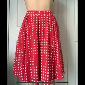 LuLaRoe Pink and White Madison Skirt